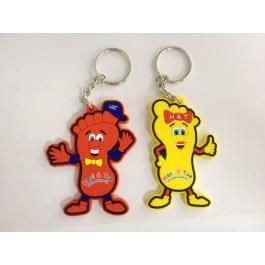 Heel & Toe Merchandise - Mascot Keyrings
