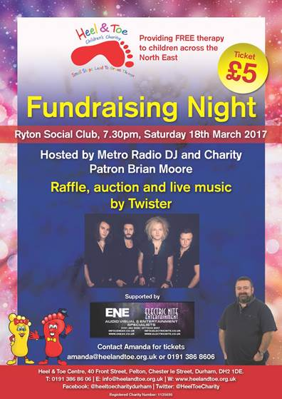 Fundraising Night Poster reduced - Heel & Toe Childrens Charity
