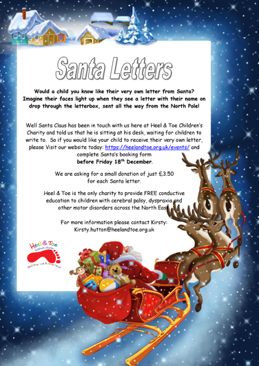 A Letter From Santa Heel Toe Children S Charity